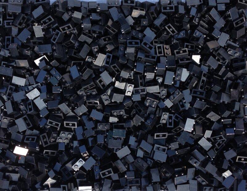 Lego® Platten 30 Stück in schwarz und grau